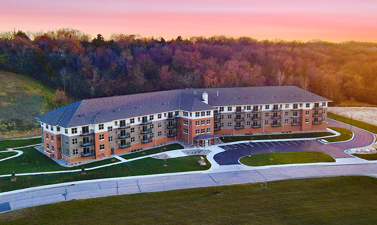 Brentwood Terrace Independent Senior Living Facility aerial photo