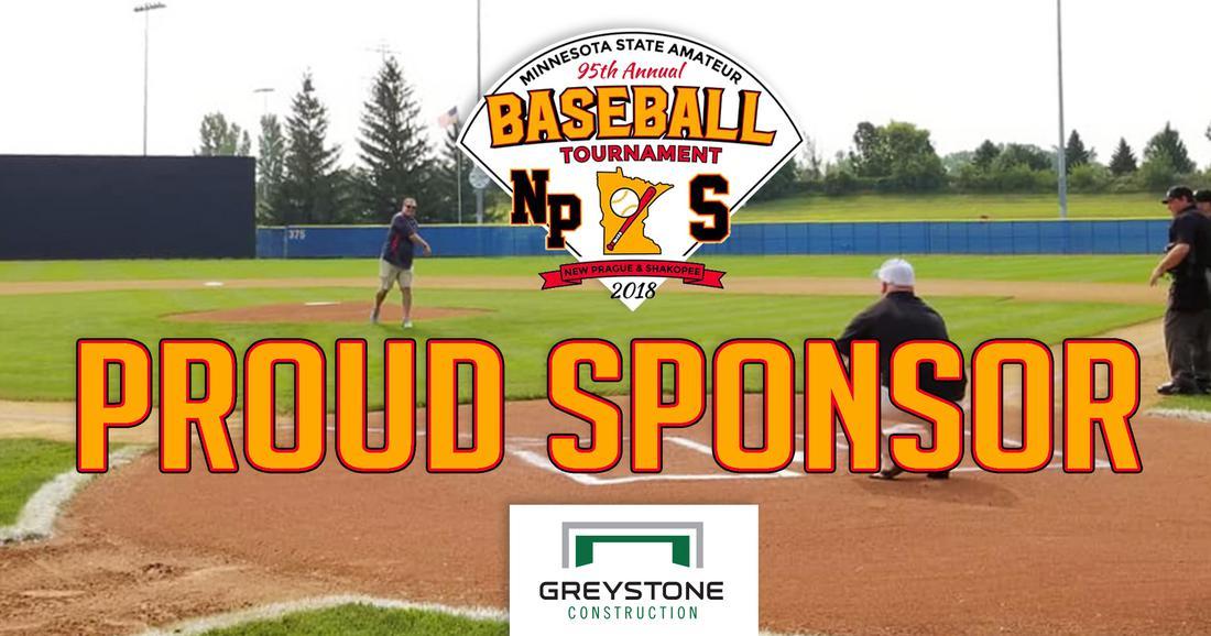 Proud sponsor of the MInnesota State Amateur Baseball Tournament