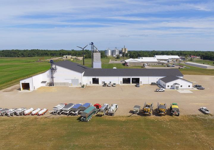 River Country Coop Dry & Liquid Fertilizer Storage Building & Office