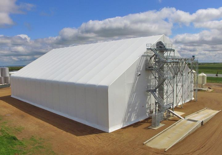 Pinnacle Agriculture Dry Fertilizer Storage Fabric Building