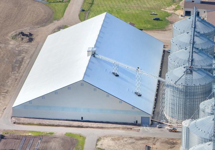 West Central Flat Grain Storage Building