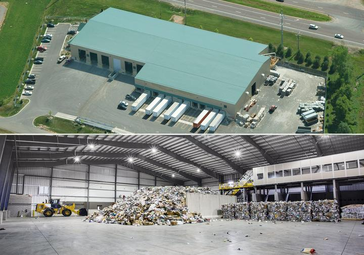Materials recovery facility construction by Greystone, an industrial