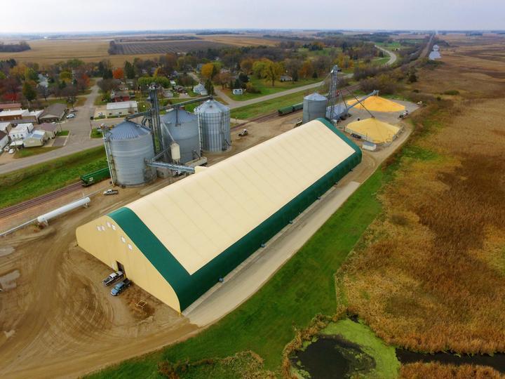 Glacial Plains Flat Grain Storage Fabric Building