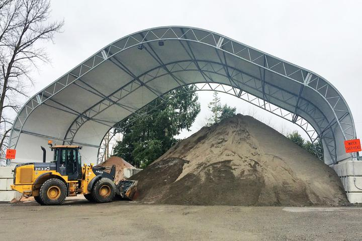Salt and Sand Shed Dome Building