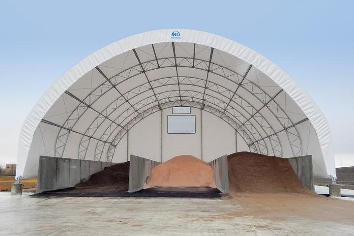 65' x 64' Salt Shed Fabric Building
