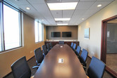Conference room inside the HomeTown Bank multi-tenant office building