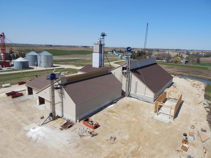 Construction of the dry fertilizer storage building for CHS in St. Charles, MN