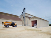 Product receiving area of the dry fertilizer storage building for CHS in St. Charles, MN