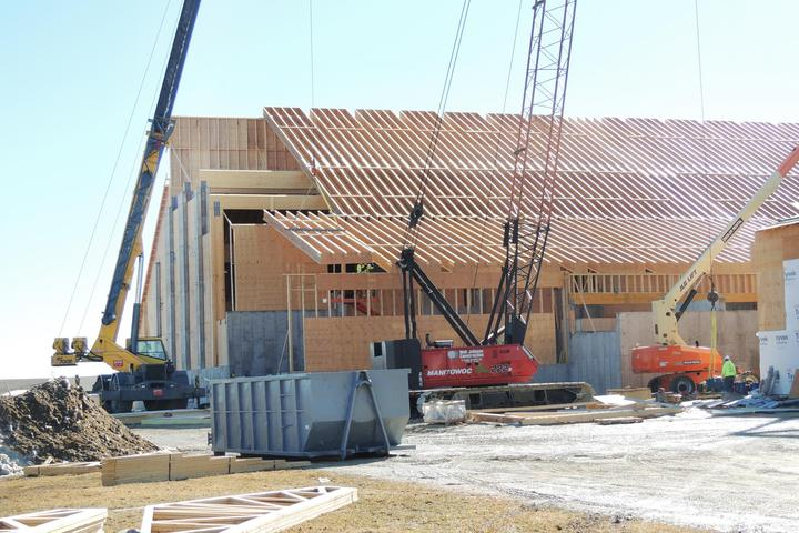 Greystone self-performed the wood framing for the Dry Fertilizer Storage Building for CHS