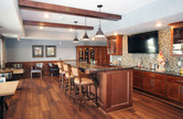 Bar inside of the Pillars of Mankato senior living facility housing construction project