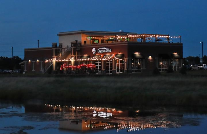 Night lights at McCoys Copper Pint Bar & Restaurant
