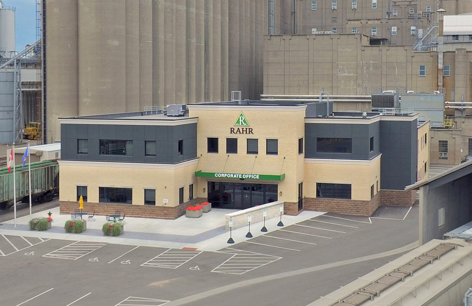Exterior view of Rahr Corporate Office Expansion / renovation construction project