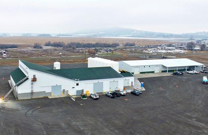 Aerial view of Nutrien Ag Solutions Greenfield Site in Sunnyside, Washington