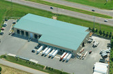 Aerial of the Dem-Con Materials Recovery Facility (MRF) Metal Building