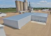 Another aerial view Crystal Valley Coop bulk chemical warehouse and liquid loadout facility in Janesville, MN