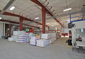 Storage inside Crystal Valley Coop bulk chemical warehouse and liquid loadout facility in Janesville, MN