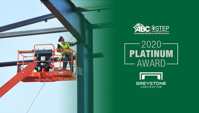 Commercial construction company earns Platinum Safety Status