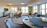 Club room inside of the Brentwood Terrace independent senior living facility housing construction project