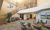 Lobby inside of the Brentwood Terrace independent senior living facility housing construction project