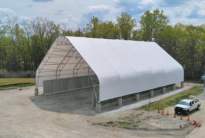 Salt storage building completed in Lake County, Ohio